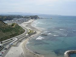 A beach in Fukushima Prefecture