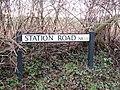 -2019-02-12 Name sign, Station road, Lower Southrepps.JPG