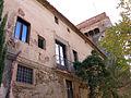 001 Sant Jeroni de la Murtra, recinte exterior, façana oest.JPG