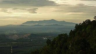Sungai Petani - A view of Gunung Jerai at dusk