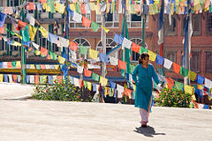 0403 Prayers Colors Kathmandu Bodnath 2006 Luca Galuzzi