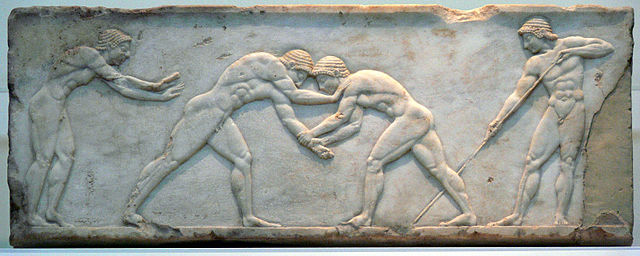 Greek wrestlers (c. 6th century BC) - Greek Pentathlon