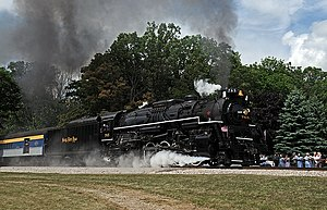 Berkshire locomotive - The Nickel Plate 765 is one of two remaining operating Berkshire steam locomotives. Operated by the Fort Wayne Railroad Historical Society in Indiana, 765 has pulled numerous excursions over decades of excursion service.