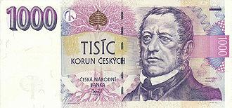 František Palacký - Portrait of Palacký on a Czech koruna banknote