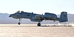 104th Fighter Squadron A-10C landing at Mud Lake at the Nevada Test and Training Range.jpg