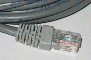 Ethernet over twisted pair - 8P8C plug