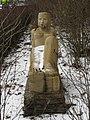 1140 Hadikgasse 268 - Natursteinplastik Sphinx von Hilde Uray 1954 IMG 0988.jpg