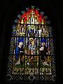 116 Castell de Santa Florentina (Canet de Mar), vitrall de la Crucifixió.JPG