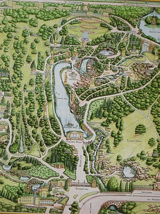 Arboretum Sofiyivka - Plan of the park