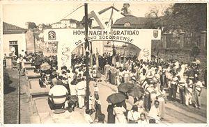 "Socorro, São Paulo - The so-called ""Pracinhas"" arrive at Socorro in August 14, 1945."