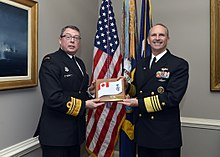 150421-N-ZI511-401 Chief of Naval Operations (CNO) Adm. Jonathan Greenert welcomes Commander of the Royal Canadian Navy Vice Adm. Mark Norman.jpg