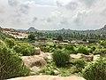 15th-16th century ruins of market and Vaishnavism Achyutaraya Tiruvengalanatha temple, Hampi Hindu monuments Karnataka.jpg