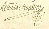 1756 signature of Adrien Maurice de Noailles, Duke of Noailles (1678-1766) Maréchal of France.jpg