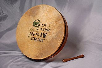 Music of Ireland - The bodhrán, a traditional Irish drum.