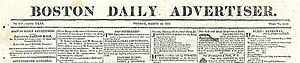 Boston Daily Advertiser - Image: 1823 Boston Daily Advertiser