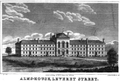 1828 Almshouse LeverettSt Snow HistoryOfBoston.png