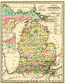 1842 A new map of Michigan with its canals roads distances by H.S. Tanner.jpg