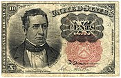 1874 United States Fractional Currency Ten Cent Note, Fifth Issue (obverse).jpg
