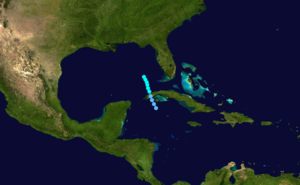 1890 Atlantic hurricane season - Image: 1890 Atlantic tropical storm 1 track