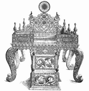 Sun Throne - Drawing of the Sun Throne, 1892
