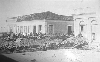 Federalist Riograndense Revolution - Trench on the sete de setembro st. during the siege of Bagé, 1893.