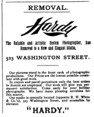 1894 Hardy photographer advert 523 Washington Street in Boston.png