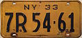 1933 New York license plate.JPG