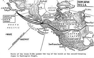 JapanWashington Flight Wikipedia - Japan us map