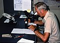 1988. Scott Tunnock in field lab. Western spruce budworm control project. Mt. Hood National Forest. (36362698465).jpg