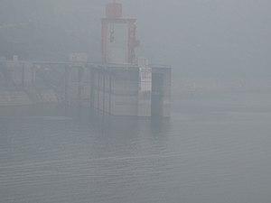 Geheyan Dam - Image: 1998 Qing River Highest Water Level
