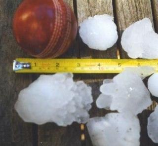1999 Sydney hailstorm stones