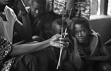 19th century Limba arrows held by Mamadou Mansaray, town chief of Bafodia, Sierra Leone (West Africa) 1967 (441008707).jpg