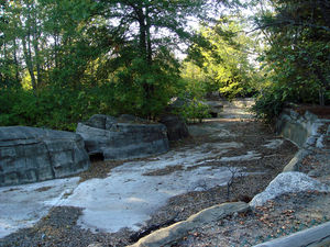 "Opryland USA - Ruins of the old ""Grizzly River Rampage"" (October 2007)."