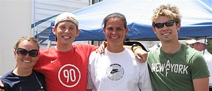 Roller sports at the 2007 Pan American Games - The United States roller skating team (left to right): Jessica Smith, Jonathan Garcia, Brittany Bowe, and Joey Mantia.