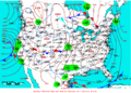 2008-01-25 Surface Weather Map NOAA.png