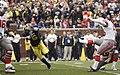 20091121 Donovan Warren attempts to block a kick.jpg