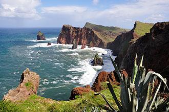 Caniçal - The arm of Ponta de São Lourenço along the northern coast of Caniçal