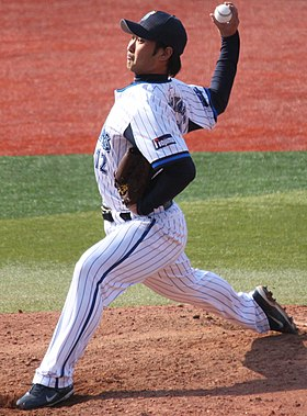 20130317 Hirosi Kobayasi, pitcher of the Yokohama DeNA BayStars, at Yokohama Stadium.JPG