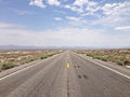 2014-07-17 13 05 01 View east along U.S. Route 6 about 5.1 miles east of the Esmeralda County Line in Nye County, Nevada.JPG