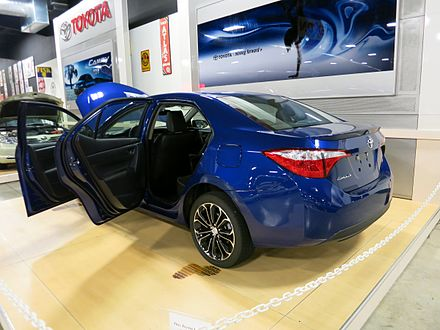 2014 Toyota Corolla built by Toyota Motor Manufacturing Mississippi on display at the Tupelo Automobile Museum 2014 Toyota Corolla built in Blue Springs, Mississippi.jpg