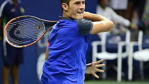 Glossary of tennis terms - Image: 2014 US Open (Tennis) Tournament Bernard Tomic (14954485718)