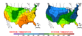 2015-10-22 Color Max-min Temperature Map NOAA.png