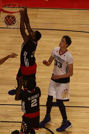 2015–16 Maryland Terrapins men's basketball team - Diamond Stone in the 2015 McDonald's All-American Boys Game