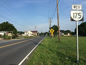 Virginia State Route 175 - View west along SR 175 in Wattsville