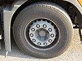 2017-09-08 (142) Bridgestone R168 385-65 R 22,5 tires at Wieselburg Railway Station's park and ride, Austria.jpg