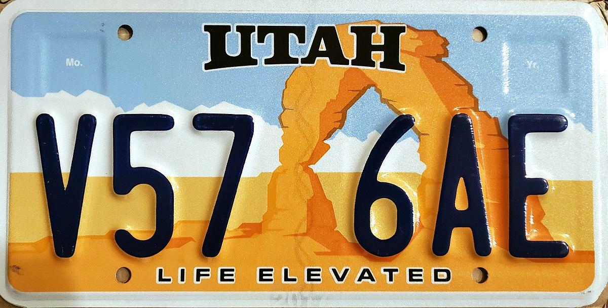 vehicle registration plates of utah - wikipedia