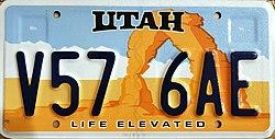 Vehicle Registration Plates Of Utah