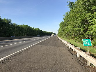 Springfield Township, Burlington County, New Jersey - The New Jersey Turnpike in Springfield Township