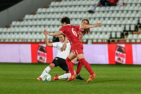 20180405 FIFA Women's World Cup Qualification AUT-SRB Burger Damjanovic 850 6803.jpg