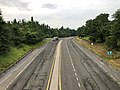 2019-08-13 09 11 58 View west along U.S. Route 211 (Lee Highway) from the overpass for Virginia State Route 48 (Skyline Drive) at Thornton Gap within Shenandoah National Park in Page County, Virginia.jpg